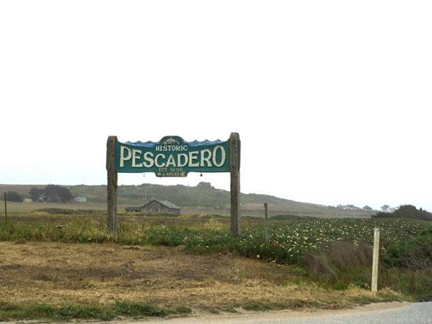 Historic village of Pescadero, California