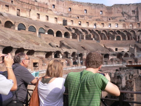 Colosseum visitors
