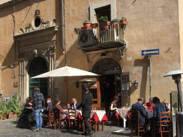 Piazza Navona side street restaurant, Rome