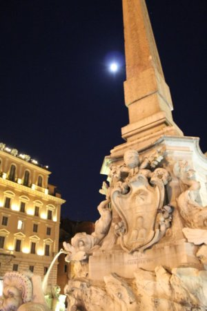 Rome's Centro Storico in moonlight
