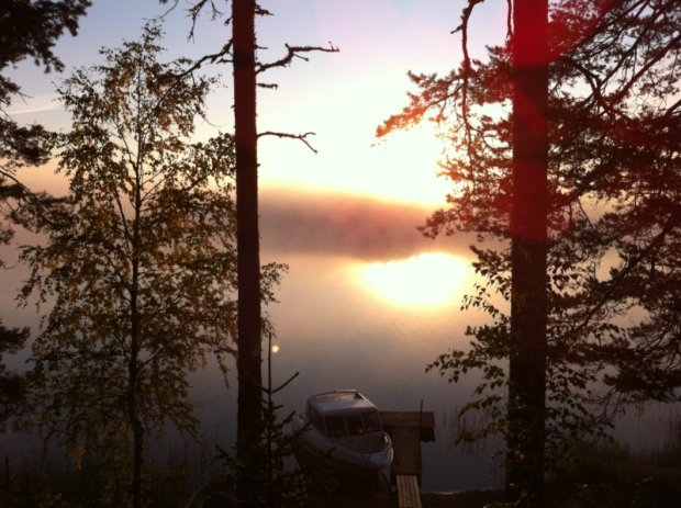 Lake Näsijärvi misty morning