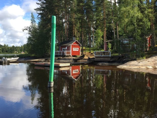 A Finnish lakeside cottage