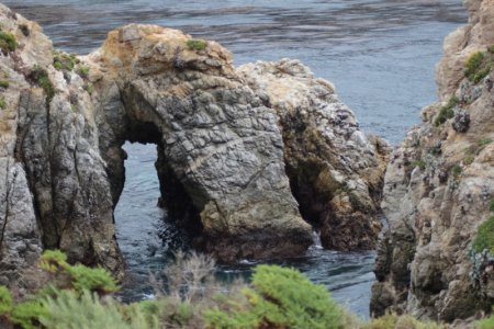 Point Lobos rock arch, California