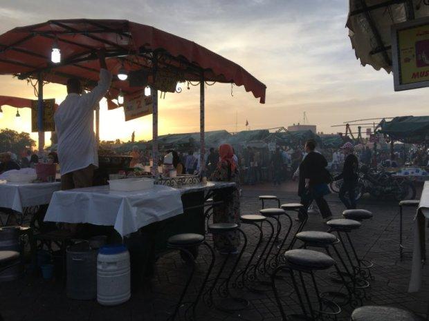 Jemaa el-Fna food stalls