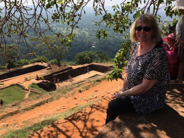 On the top of Sigiriya Rock, Sri Lanka