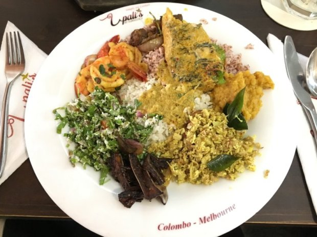 Sri Lankan lunch, Colombo