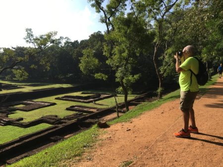 Photographing Sigiriya royal gardens