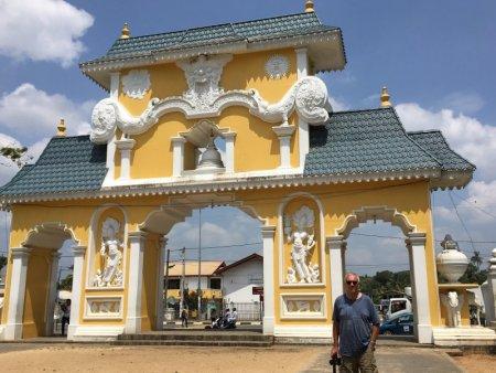 Buddhist temple gate, Sri Lanka's South Coast