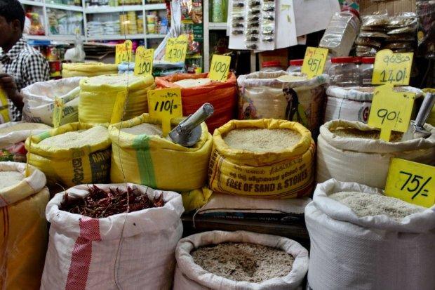 Nuwara Eliya Central Market rice and curry