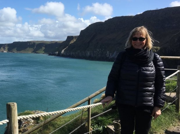 After crossing the Carrick-a-Rede rope bridge