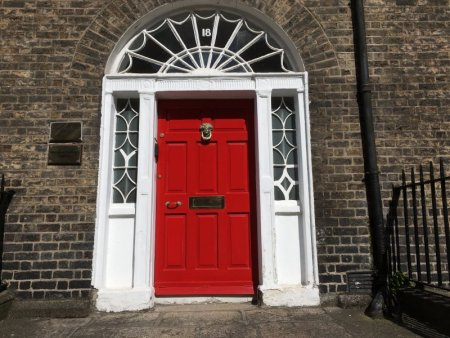 Dreaming about travel: a Dublin door