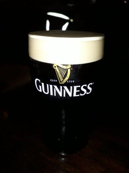 Pint of Guinness, self-guided Dublin walking tour