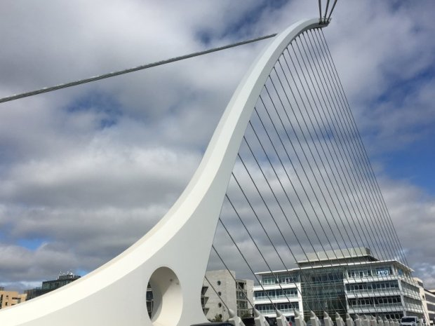 Samuel Beckett bridge, self-guided Dublin walking tour