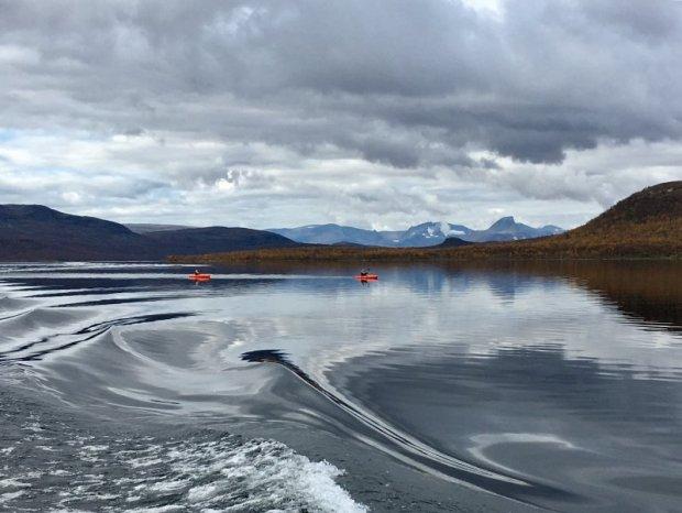 Kilpisjärvi canoeing