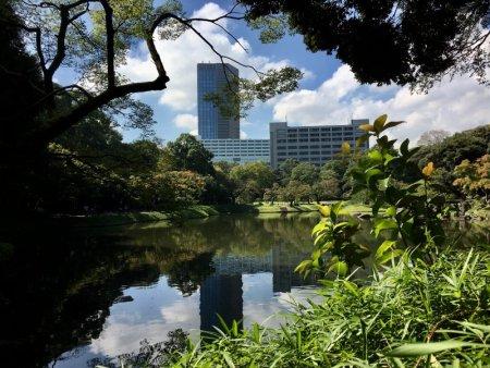 Koishikawa Korakuen Garden city view
