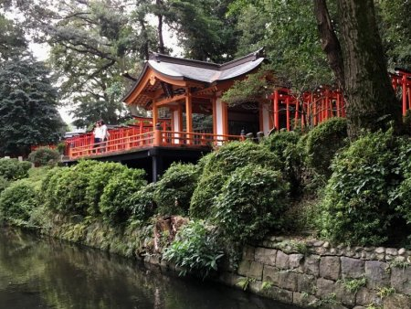 Nezu shrine and pond