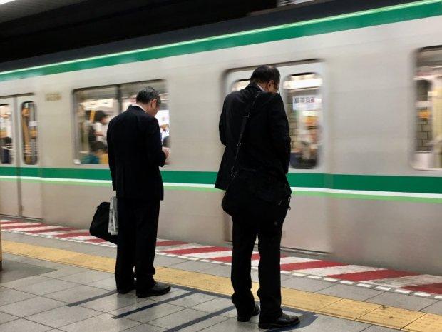 Tokyo subway travellers