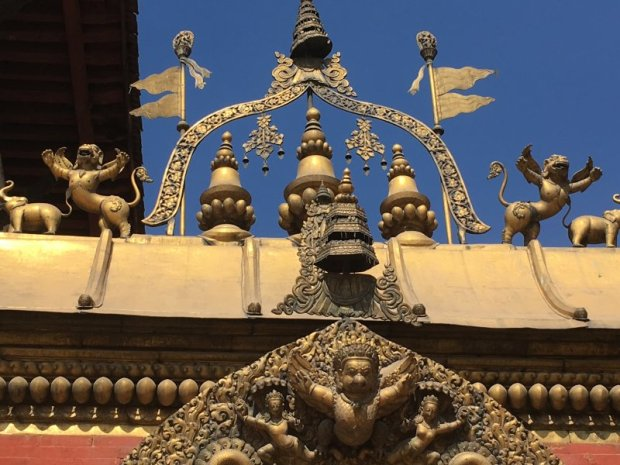 A golden gateway in Bhaktapur Palace Square