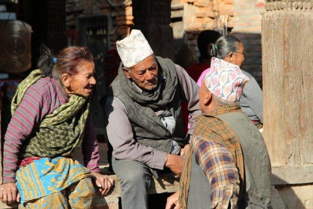 Locals discussing