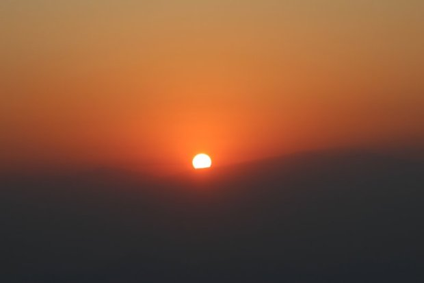 Travel in Nepal: sunrise over Himalaya