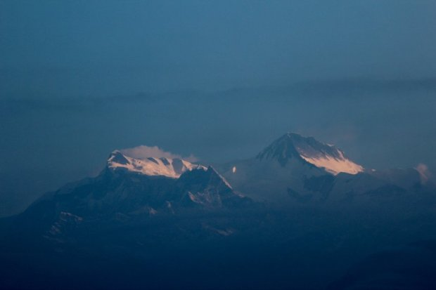 Annapurna after sunrise seen from Sarangkot