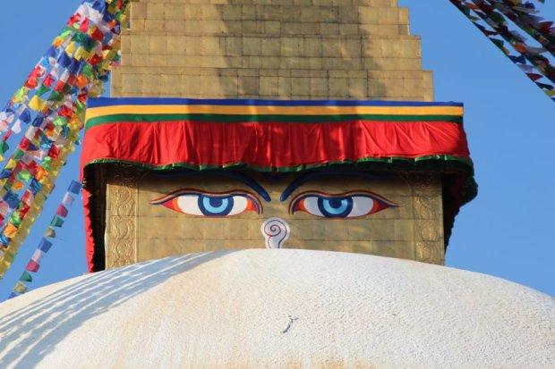 The Buddha's eyes, Boudanath temple