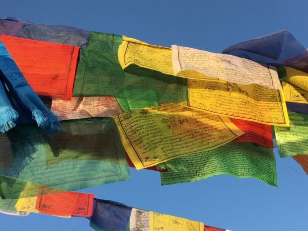 Buddhist prayer flags, Kathmandu, Nepal