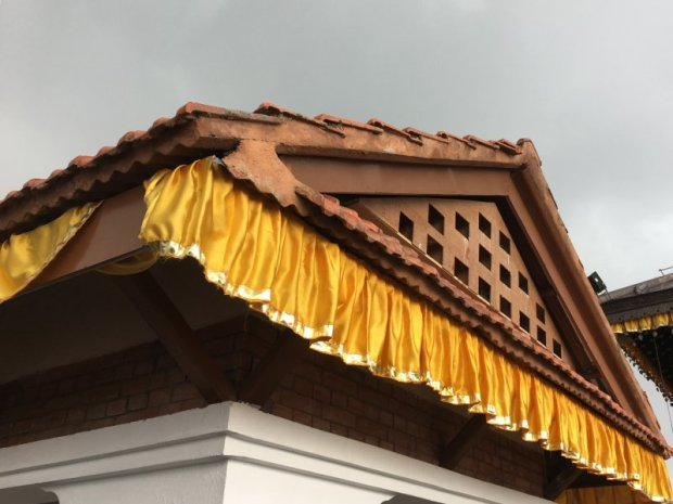 Chandragiri Hill temple roof