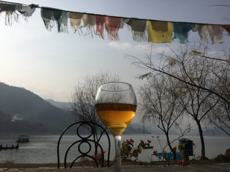 Glass of sweet Nepalese wine
