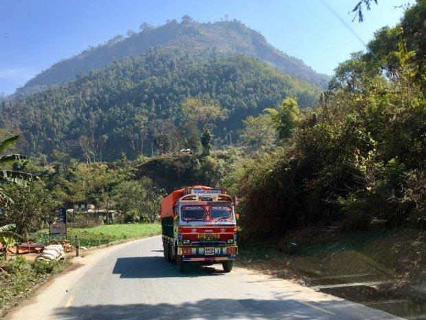 Highway from Pokhara to Kathmandu