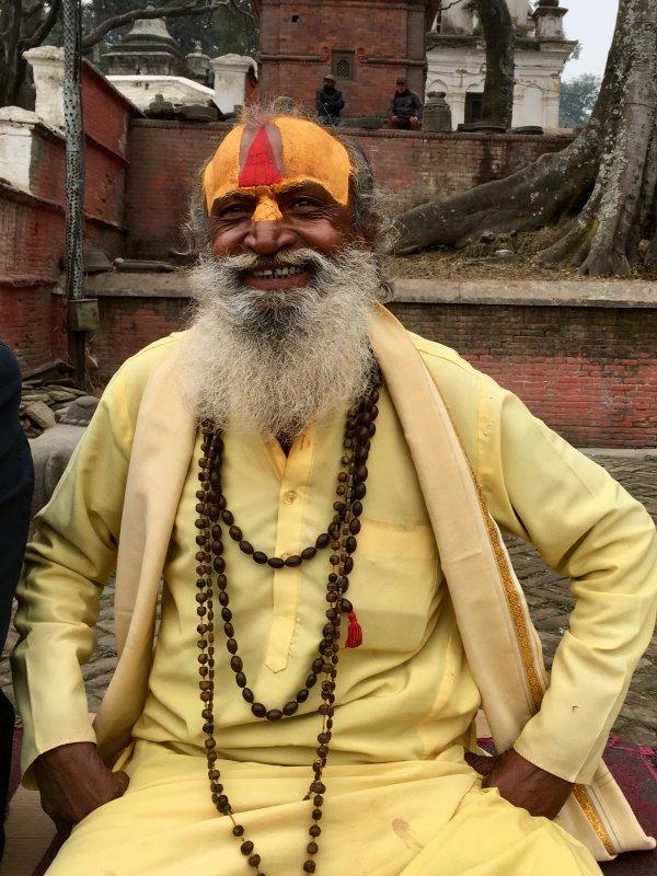 Holy man of Pashpatinath Temple, Kathmandu