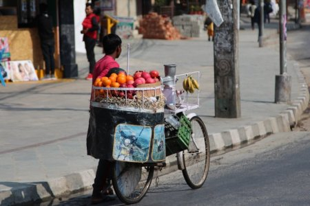 Nepalese fruit seller