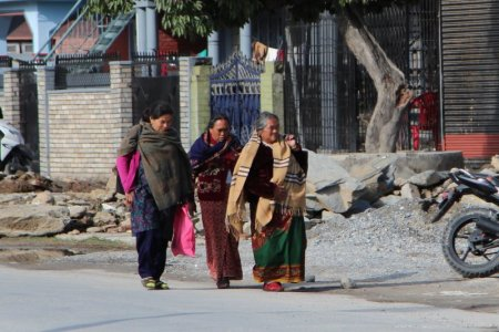Pokhara ladies walking