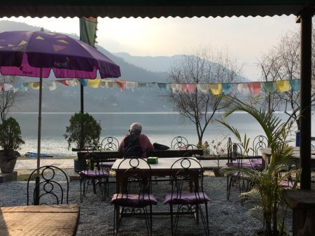 Pokhara lakeside cafe