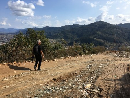 Road from World Peace Stupa to Pokhara