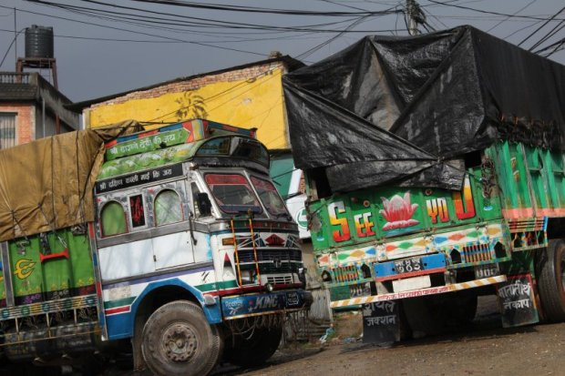 Travel in Nepal: Nepalese trucks