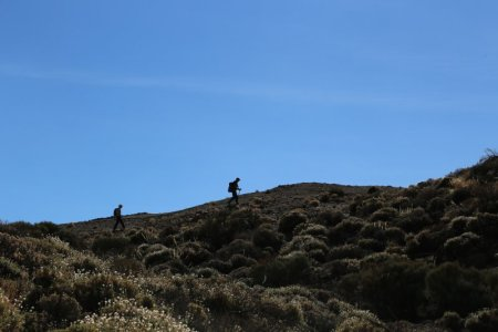 Hikers in Mount Teide National Park