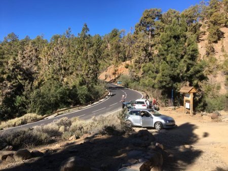 Stopping on the road to Mount Teide