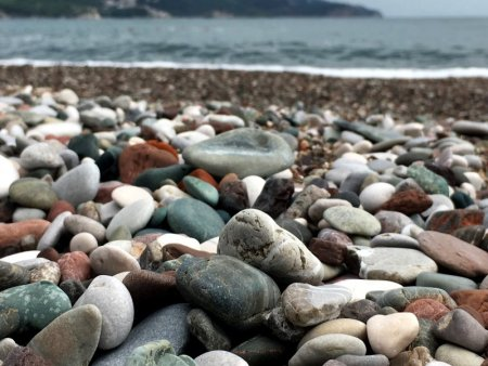 Becici pebble beach, Montenegro