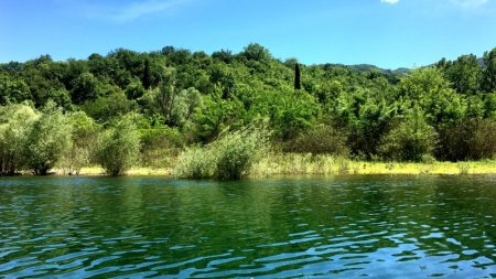 Boat cruising in Skadar Lake National Park
