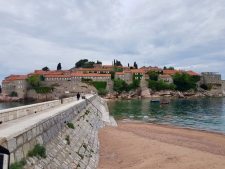 Bridge to Sveti Stefan, Montenegro
