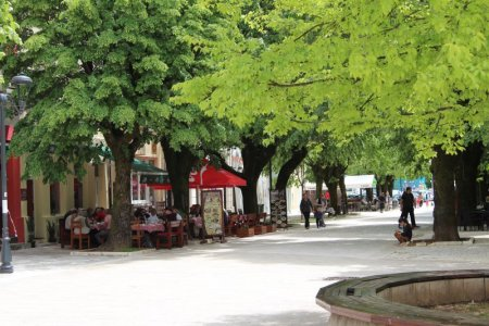 Cetinje main street, Montenegero