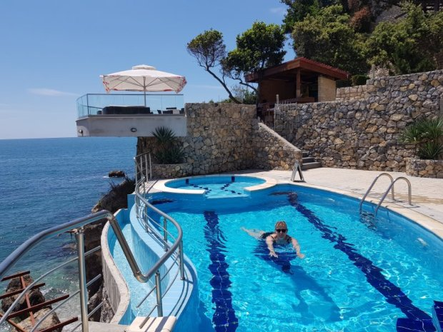 Enjoying the Apartments Eneida pool, Ulcinj