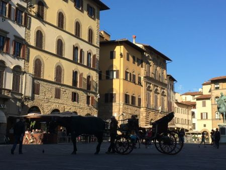 Central square of Florence, Italy
