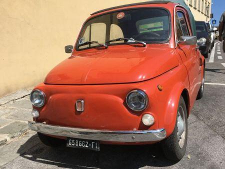 Fiat 500 in Fiesole, Italy