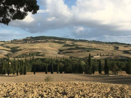 Italy by train and car: landscape of Tuscany
