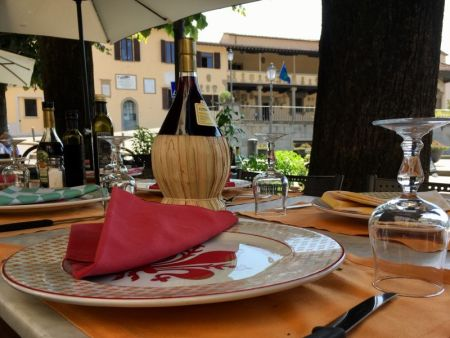 Italy by train and car: lunch in Fiesole, Tuscany