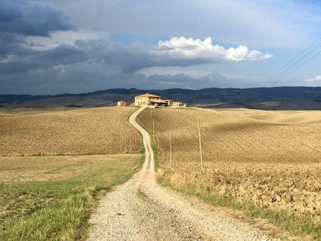 Italy by train and car: Valle d'Orcia fields