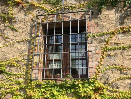 Our window at Agriturismo La Casa Nuova, Castelmuzio