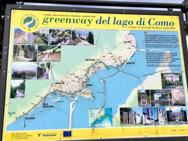 Greenway del lago di Como map
